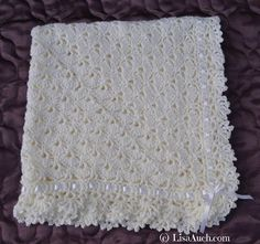 This beautiful unique stitch is made from the centre out, which means you can make this crochet baby blanket as small or as big as you wish.