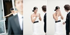 Gorgeous Glam Old Hollywood Inspired Black and White Wedding Wedding First Look, Wedding Looks, Wedding Day, W Hotel, Vintage Hollywood, Tent Reception, Prom Dresses, Formal Dresses, How Beautiful