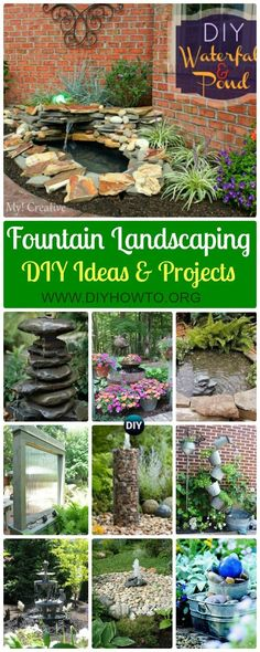 Collection of DIY Garden Fountain Landscaping Ideas & Projects: Outdoor Fountain DIY projects, built in fountain and water features tutorials via @diyhowto