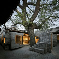 """""""Reporting from the Front"""" in China: A Talk with Zhang Ke of ZAO/standardarchitecture, Micro Yuan'er. Image Courtesy of ZAO/standardarchitecture Ancient Chinese Architecture, China Architecture, Contemporary Architecture, Interior Architecture, Casa Patio, Micro House, Asian Design, Courtyard House, Basement Remodeling"""