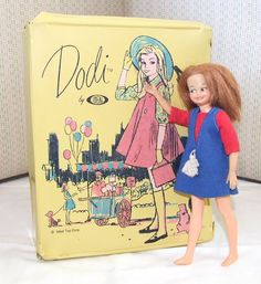 Vintage Dodi by Ideal Toy Doll and Case Play Barbie, Barbie Dolls, Little Sisters, Little Girls, Vintage Toys, Retro Vintage, Childhood Toys, Childhood Memories, Tammy Doll