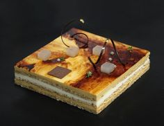 Bubo Barcelona Pear & Caramel Layers: Pear Mousse Caramel mousse Nut Dacquoise Vanilla and pear jelly
