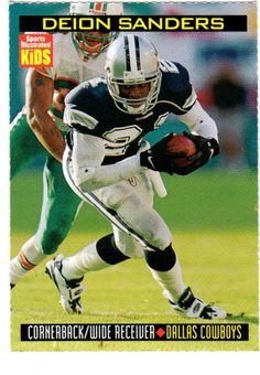 Rare 1/99 SI for Kids DEION SANDERS Football Card, Dallas Cowboys NFL -