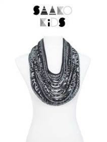 Great animal-print black and gray children's scarf-lace