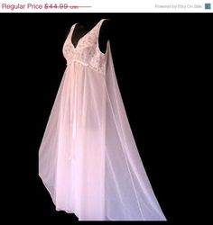 ON SALE Vintage Nightgown Lingerie Pink Size by oldpearlsandlace, $38.24