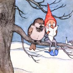 Gnome Christmas Fabric Block  Elf Reads with by KatyDidsFabrics, $5.99