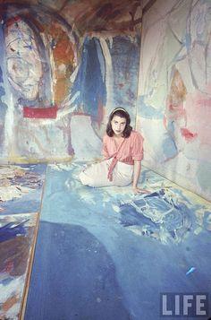 Helen Frankenthaler photographed by Gordon Parks for Life Magazine