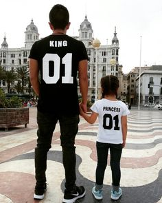 New Family King Queen Letter Print Cotton tshirt Mother and Daughter father Son Clothes Matching Princess Prince T Shirt King Queen, King Shirt, King Queen Princess Shirts, Mens High Collar Shirts, Site Mode, Matching Family Outfits, Matching Clothes, Couple Shirts, Father And Son
