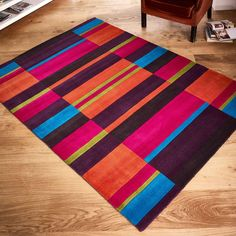 Jazz Wool Rugs Modern Carpetmodern Rugscolorful Rugsmulticoloured Rugsfunky Designstriped Rug