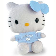 UNC North Carolina Tar Heels Hello Kitty- 6 Inch