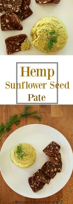 This Hemp Sunflower Seed Pate is a great appitizer to ensure the vegans and vegetarians are happy. It is also gluten-free and dairy-free and packed full of protein. One of my favourite afternoon snacks when served with seedy crackers. High Protein Vegan Snacks, High Protein Vegetarian Recipes, Raw Vegan Recipes, Protein Recipes, Vegan Protein, Vegan Pate, Lunch Snacks, Work Lunches, Vegan Sugar
