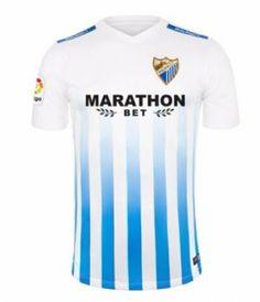Malaga C.F Home 16-17 Season White&Blue Soccer Jersey [I849]