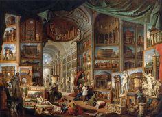 Galleria di quadri con viste dell'antica Roma, Giovanni Paolo Pannini,1758, Musée du Louvre, Paris