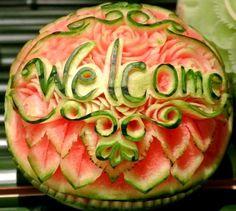 Watermelon engraving