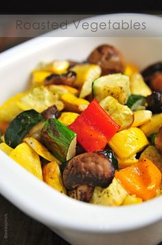 Lately, Ive been craving fresh vegetables. Like these roasted vegetables or those that I piled onto my Greek Salad I talked about yesterday.  And when I say craving, I mean craving! I stopped by the grocery store today to pick up a few things to make supper for my sister-in-law, Cindy, and her