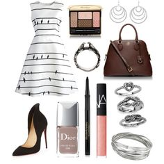 9 by amflegert on Polyvore featuring polyvore fashion style Chicwish Christian Louboutin Tory Burch Pamela Love Whistles Metropark Guerlain NARS Cosmetics Elizabeth Arden Christian Dior C. Wonder
