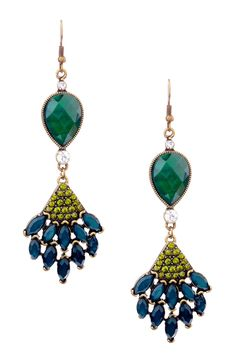 Bansri - Peacock Earrings