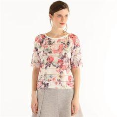 Pimkie.fr : Rayures en transparence et imprimé floral : le t-shirt a tout bon.
