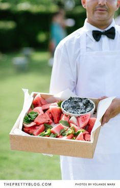 Watermelon | Delicious Canapés | Photographer: Yolandé Marx