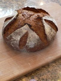 Sourdough Rye Bread recipe:  Breadtopica.  On Rye: Higher in protein, phosphorus, iron and potassium than wheat. It's high in lysine, low in gluten and very low in Saturated Fat, Cholesterol and Sodium. It is also a good source of Zinc, Copper and Selenium, and a very good source of Dietary Fiber and Manganese.