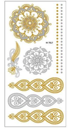 Shiny Silver, Gold Faux Tattoo