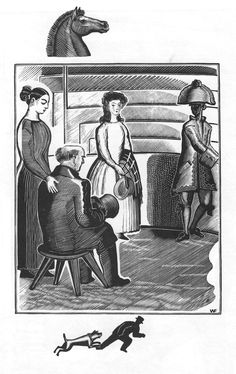 """Illustration to Charles Dickens's """"Hard Times"""" 1930. Wood engraving"""