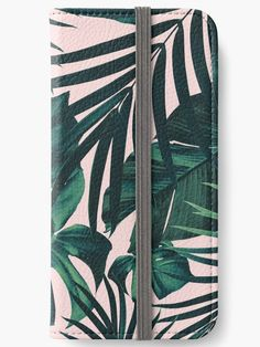"""""""Tropical Jungle Leaves Pattern #5 #tropical #decor #art"""" iPhone Wallets by anitabellajantz 