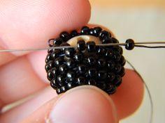 Beaded bead  DIY BB Peyote stitch