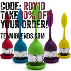 Web link: http://www.teamiblends.com/ Code: ROY10 Discount: 10% off any order Expiration: None #ThanksTeami