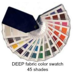Deep fabric swatch 45 colors  #color analysis swatch #deep color family #color analysis http://www.style-yourself-confident.com/how-color-analysis-works.html
