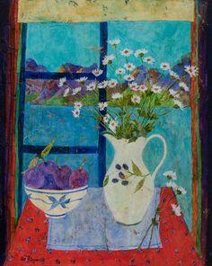 Catto Gallery | Sue Fitzgerald Exhibition 2016 | Hotel Window, Lake Annecy
