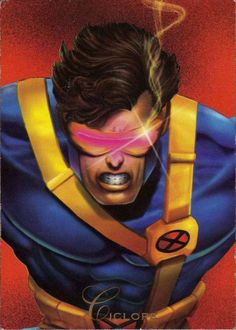 Ciclope-Pepsi Cards Scott Summers -alias el Ciclope- es un héroe en todos los aspectos, ha arriesgado su vida en numerosas ocasiones, combatiendo villanos de todo el Universo para proteger a un mundo de humanos que le teme y odia. Fue el primer alumno del profesor Charles Xavier y líder del Equipo Azul de los Hombres-X. Los mortales golpes ópticos del Ciclope, asi como sus formidables destrezas para planear estrategias, hacen de el una fuerza digna de tomarse en cuenta.