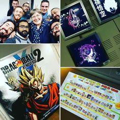 Soirée de lancement #DragonBallXenoverse2 avec la mega frise de tous les jeux DB sortis et un souvenir avec Brigitte Lecordier la voix de goku/gohan/goten enfants :) #bandainamco #goku #dragonball #DBZ