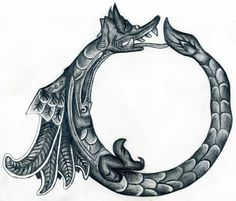 The Ouroboros has also been described by Plato, as a self-eating, circular being as the first living thing in the universe — an immortal, mythologically constructed entity