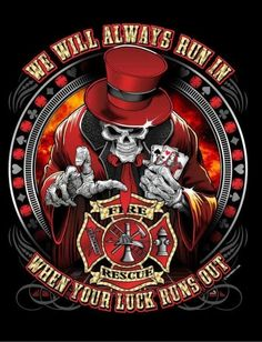 Awesome fire fighter logo