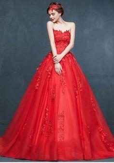 Robe de Mariée Princesse-Hiver Rouge Robe De Mariée Petite Fuite Nuptiale