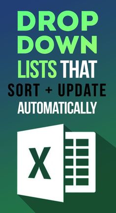 In this tutorial learn three techniques to extract unique data from unsorted jumbled data to make dynamic drop down lists that can sort and update even if source data changes. Free Excel workbooks, corebook and Computer Projects, Computer Lessons, Computer Help, Computer Technology, Computer Programming, Computer Tips, Medical Technology, Energy Technology, Technology Gadgets