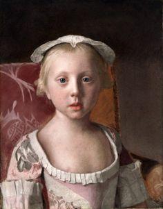 Princess Louisa by Jean-Etienne Liotard (Swiss artist, 1702-1789)