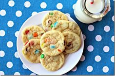 Mini M&M Cookies