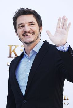 Pedro Pascal attends 'Kingsman: El Circulo De Oro' photocall at the Palacio de los Duques Hotel on September 20, 2017 in Madrid, Spain.