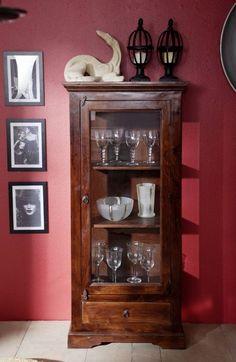 CAMBRIDGE Vitrína 155x72 cm, akácia Oxford, Acacia, China Cabinet, Cambridge, Storage, Furniture, Home Decor, Glass Display Case, Full Figured