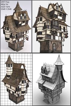Game Art - Warhammer Inspired by Rahl Minecraft Steampunk, Minecraft Medieval, Environment Concept Art, Environment Design, Casa Steampunk, Art Et Illustration, Illustrations, Construction Minecraft, Fantasy House