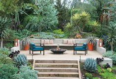 Another outdoor design by landscape architect Judy Kameon.