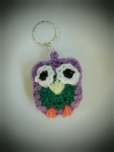 amigurumi crochet owl keychain crochet owl charm ornament by WiseFriday on Etsy