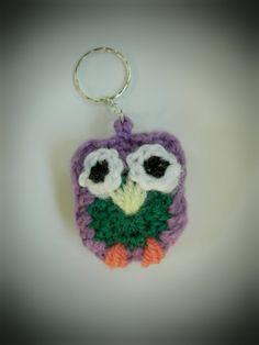 amigurumi crochet owl keychain crochet owl charm ornament by WiseFriday on Etsy
