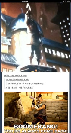 Me and my friends were seriously excited when we realized that was a statue of Sokka