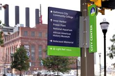 DowntownBaltimore - Wayfinding Systems - Two Twelve [with district color coding]