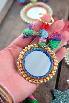 Mirror Keychain Tassel Swag Decoration Jewelry by WomanShopsWorld