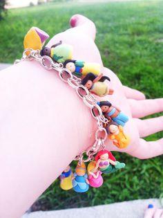 Disney Princess Clay Silver Charm Bracelet