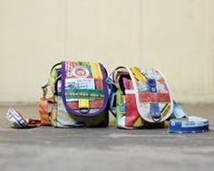 Fair Trade Upcycled Rice Bag Mini Shoulder Bag - Perfect for Travel! $23.95